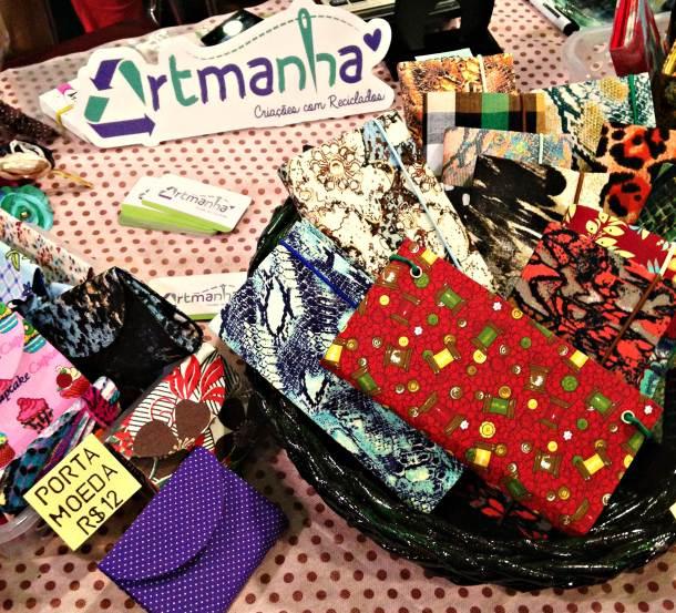 Exposição da Artmanha, criações com reciclados